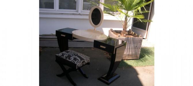 macassar ebony dressing table and natural wavy sycamore
