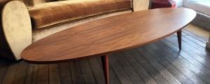 Table basse en palissandre de santos