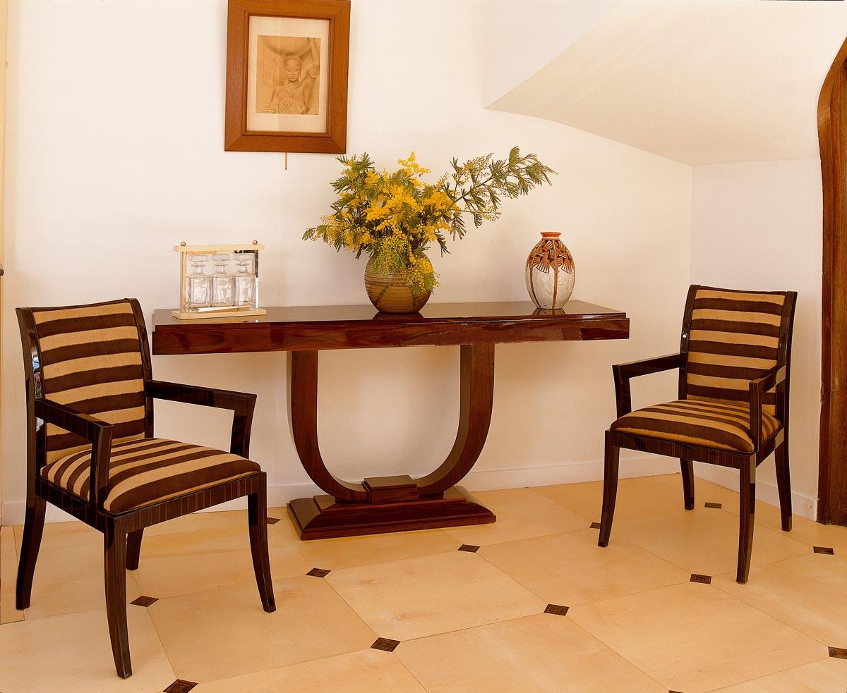 console ruhlmann mobilier art d co paris agencement xavier g lineau. Black Bedroom Furniture Sets. Home Design Ideas