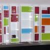Bibliothèque laque réalisée sur mesure