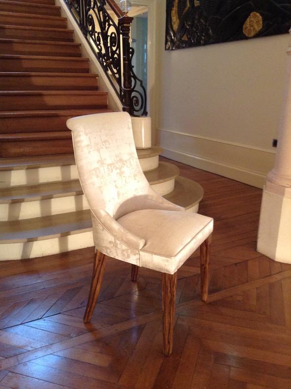 chaise ines mobilier art d co paris agencement xavier g lineau. Black Bedroom Furniture Sets. Home Design Ideas
