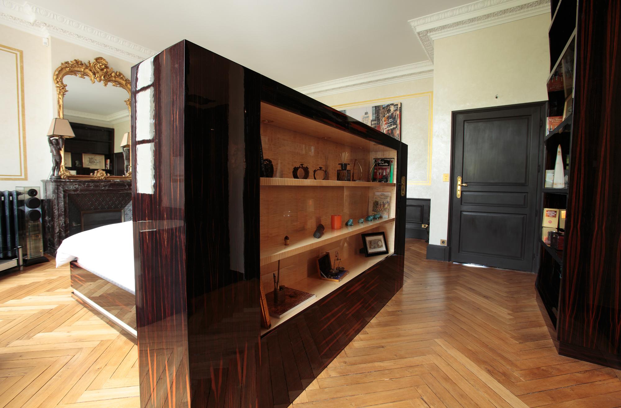chambre mobilier art d co paris agencement xavier g lineau. Black Bedroom Furniture Sets. Home Design Ideas