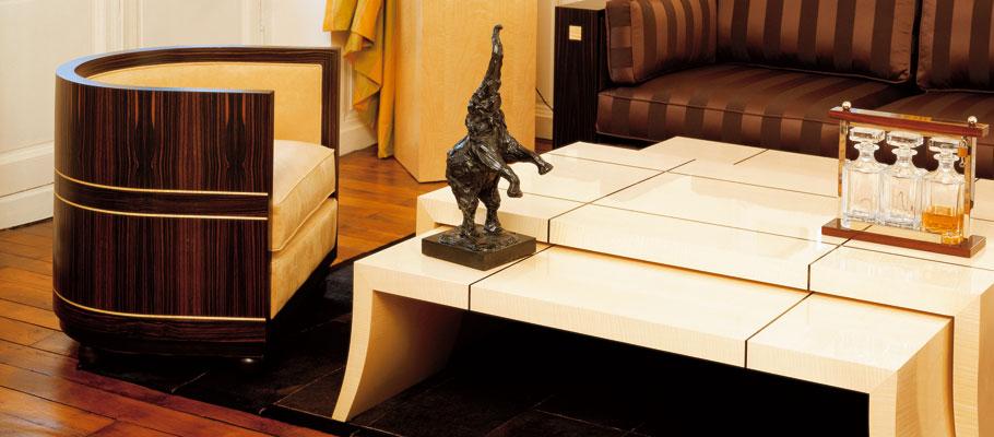 armchair tonneau deco furniture xavier gelineau