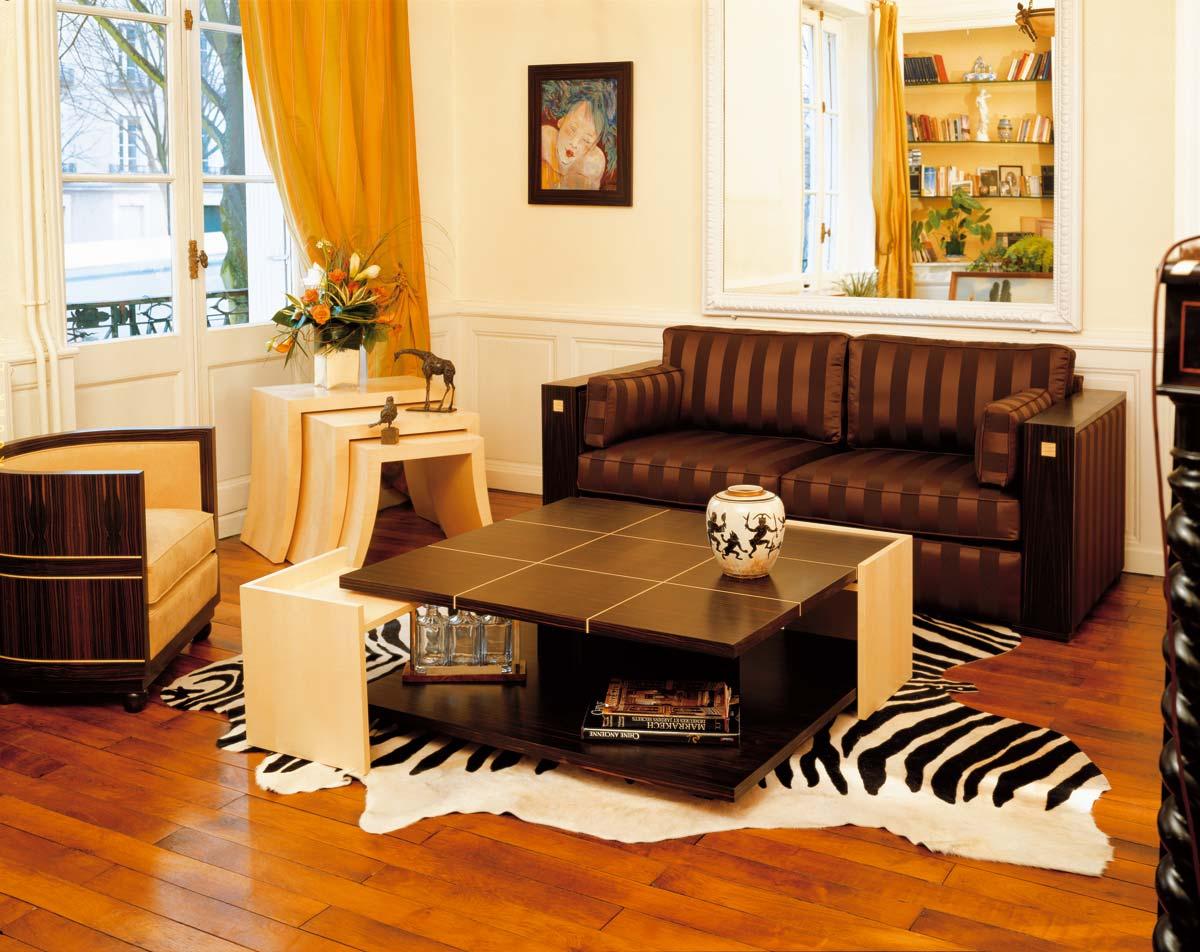 table basse 2002 mobilier art d co paris agencement xavier g lineau. Black Bedroom Furniture Sets. Home Design Ideas