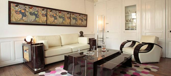 canap paquebot mobilier art d co paris agencement xavier g lineau. Black Bedroom Furniture Sets. Home Design Ideas