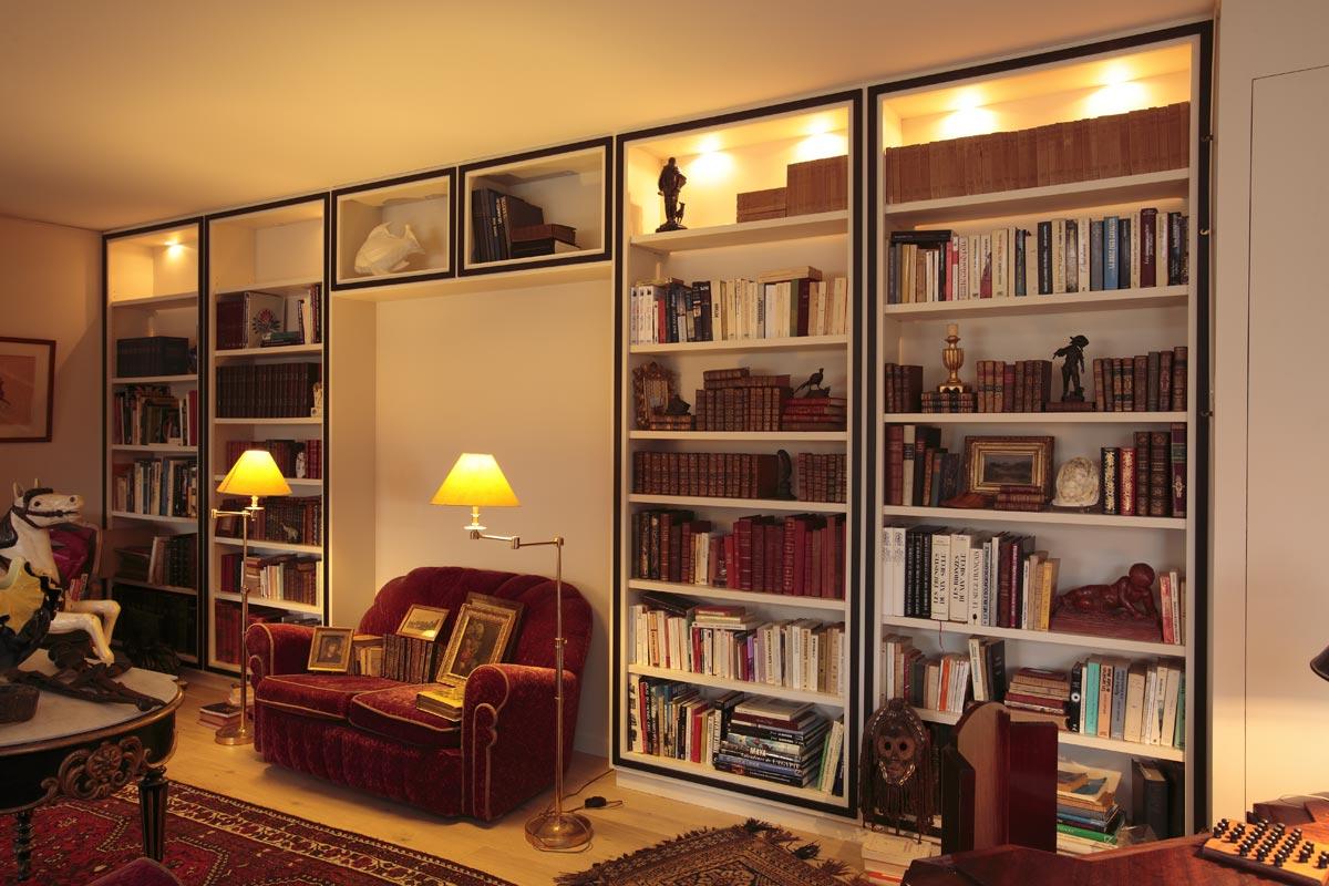 biblioth que mobilier art d co paris agencement xavier g lineau. Black Bedroom Furniture Sets. Home Design Ideas
