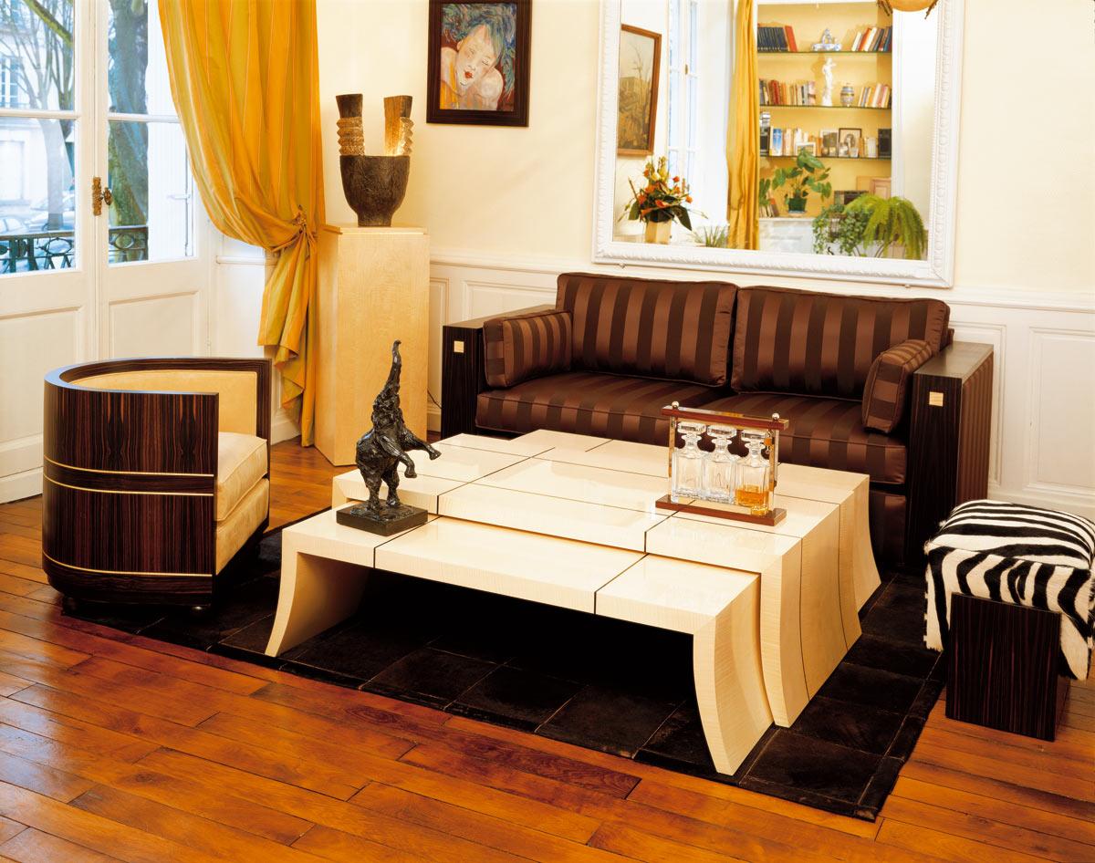 fauteuil tonneau mobilier art d co paris agencement xavier g lineau. Black Bedroom Furniture Sets. Home Design Ideas