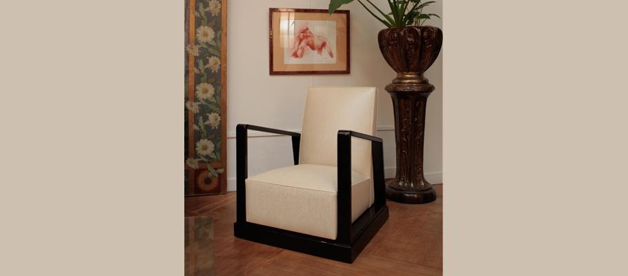 fauteuil karl mobilier art d co paris agencement xavier g lineau. Black Bedroom Furniture Sets. Home Design Ideas