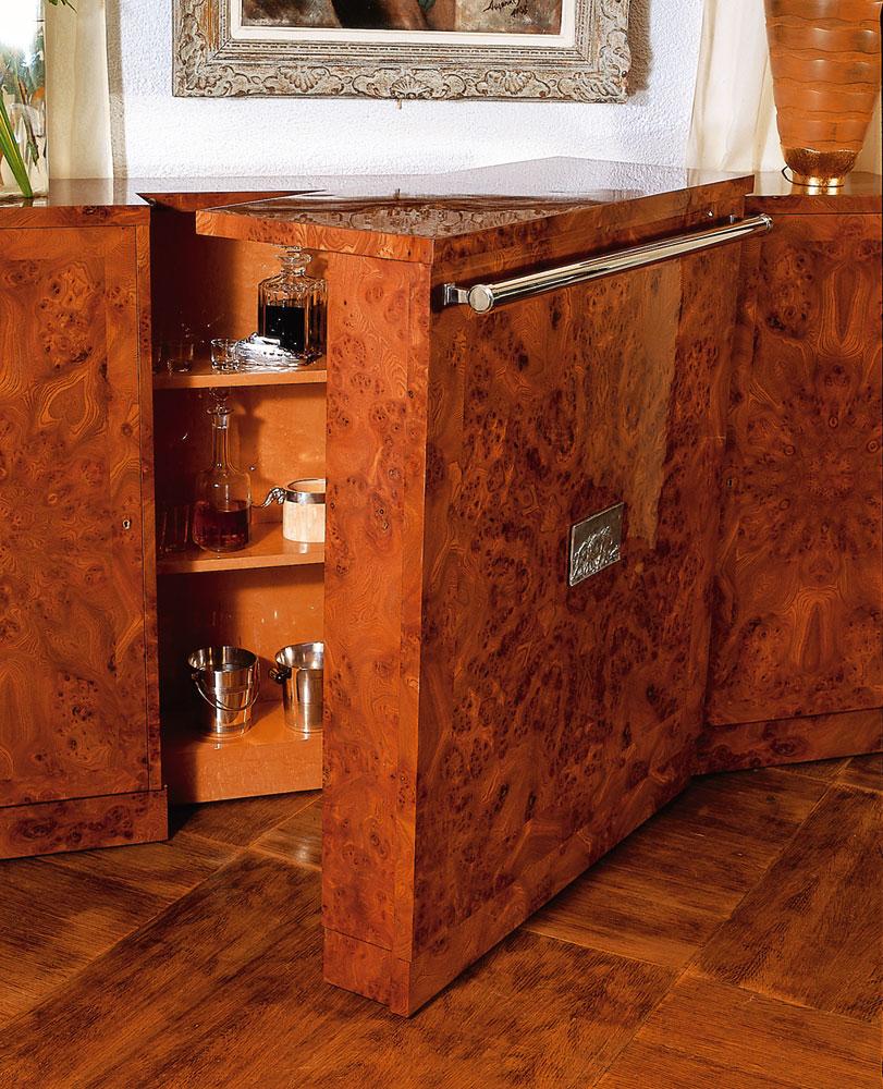 meuble bar charles mobilier art d co paris agencement xavier g lineau. Black Bedroom Furniture Sets. Home Design Ideas
